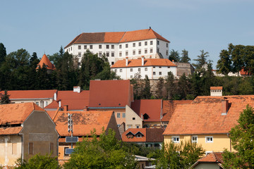 Ptuj - View on the Castle from Drava river