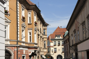 Ptuj - The City Hall facade