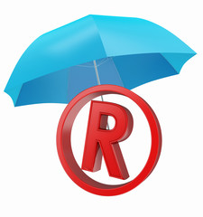 trademark and parasol protect symbol
