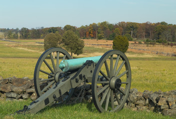 Gettysburg, Pennsylvania - Artillery looking over field