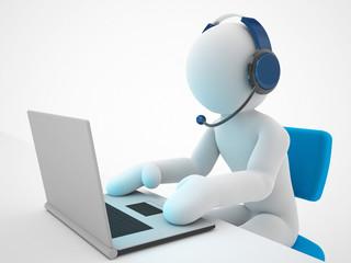 operator working in a call