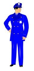 retro boys in blue policeman