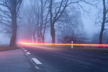 Nebel als Unfallgefahr
