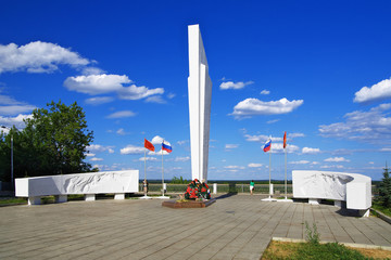Memorial to soldiers who died in World War II in the town Kirov,