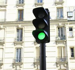 feu vert,signalisation urbaine à paris