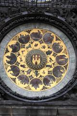 Part of prague astronomical clock