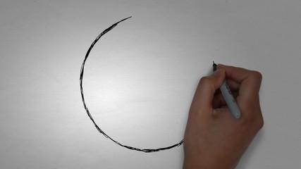 Fußball Ball Zeichnen Zeichnung Handzeichnung