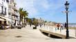 canvas print picture - Panorámica de Sitges, Barcelona