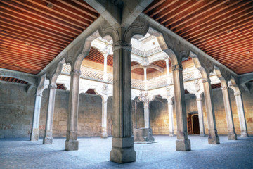 the Casa de las Conchas in Salamanca, Spain