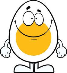 Smiling Cartoon Egg