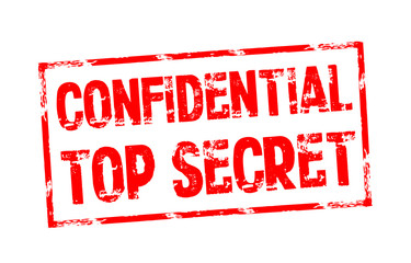 Stempel mit Confidential und Top Secret