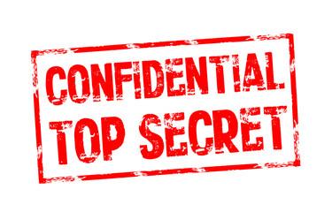 Stempel mit Confidential und Top Secret