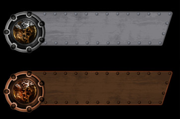 Steampunk banner template