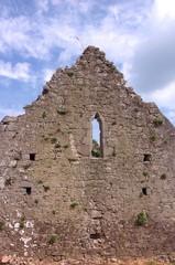 church wall ruins