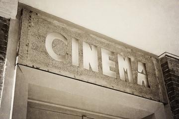 entrée cinéma vintage sépia