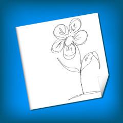 Vector Sketch Illustration - camomile