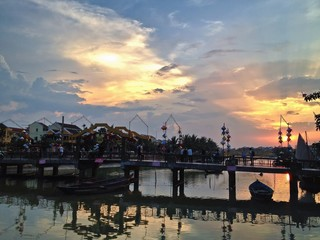 Sunset in the Old Town of Hoi An, UNESCO World Heritage Site