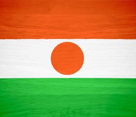 Niger flag on wood texture