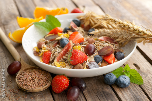Muesli aux fruits