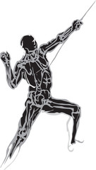 Silhouette of the Male Javelin Thrower