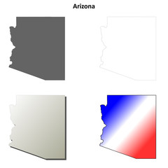 Arizona outline map set