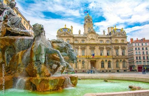 Place des Terreaux à Lyon, France