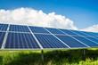 Solarpanels auf Feld - 64420608
