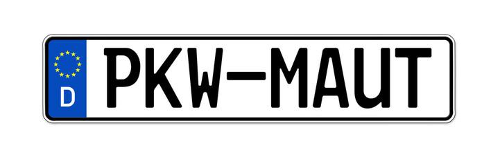 Kennzeichen mit PKW-Maut