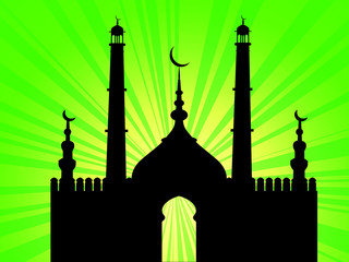 Silhouette mosquée