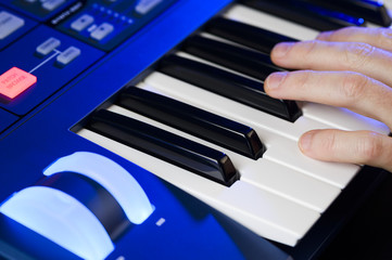 playing a keyboard