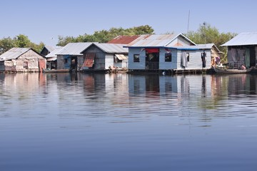 Cambodia - floating village on Tonle Sap lake