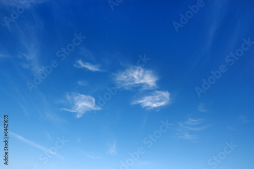 canvas print picture Beautiful sky over horizon and white clouds.