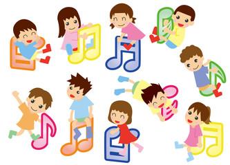 音符とキッズ(アジア)