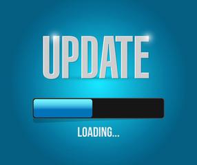 updates loading concept illustration design