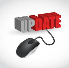update mouse message illustration design
