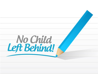 no child left behind message illustration design