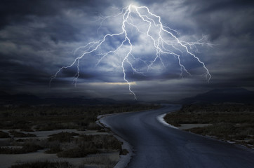 The Road under the Lightning