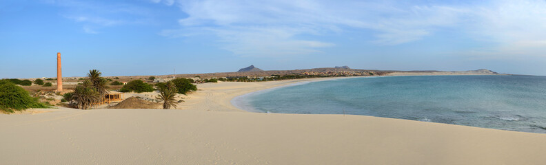 Panorama of Praia de Chaves Beach, Boa Vista, Cape Verde