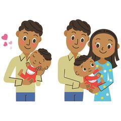ママとパパと赤ちゃん