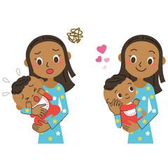 ママと赤ちゃん 表情