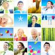 Portrait of Multiethnic Diverse Cheerful People