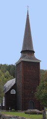 A wooden church in Värmland, Sweden
