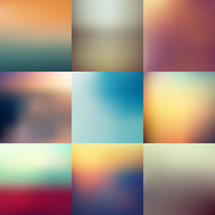 collection of abstract blur backgrounds