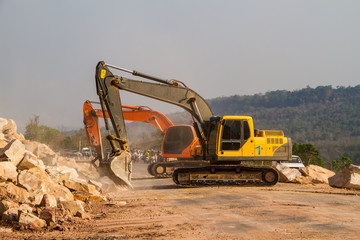 Loader excavators