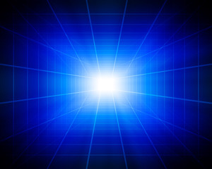 abstract digital tunnel with light insideout