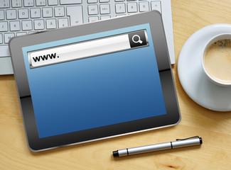 www on tablet
