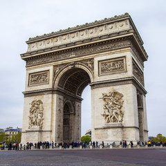 Paris, France. Arc de Triomphe