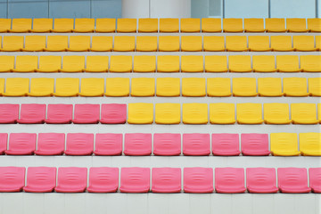 Rows Of Grandstand Seats At A Sport Stadium
