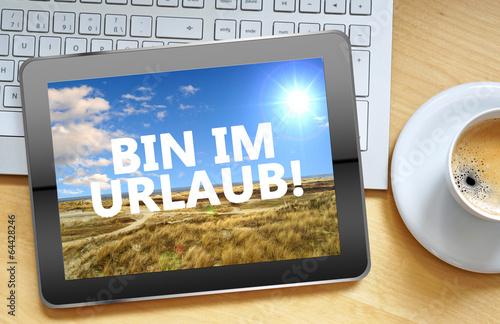 canvas print picture Bin im Urlaub!