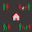 The house and four families